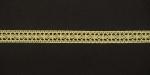 Тесьма кружевная, 12мм, цвет светло-желтый