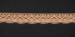 Тесьма кружевная, 16мм, цвет персиковый