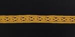 Тесьма кружевная, 17мм, цвет желтый