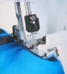 Лапка для оверлока SA 212, для тесьмы и резинки