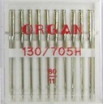 Иглы Organ стандартные № 80, 10 шт.