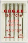 Иглы Organ супер cтрейч № 75(2),90(3), 5 шт.