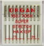 Иглы Organ суперстрейч № 75(4),90(6), 10шт.