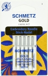 Иглы для для вышивки Gold, титаниум №90, 5шт.