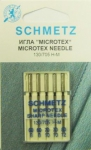 Иглы микротекс (особо острые) 130/705H-M №№ 60(2),70(2),80, 5 шт.