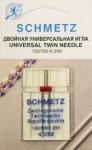 Иглы стандартные двойные 130/705H ZWI № 80/4.0, 1 шт.