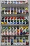 НАБОР нитки немецкие GUNOLD COTTY - хлопковые, намотка 640m (в наборе 118 цветов)