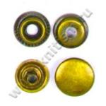 Кнопка стальная L-10 золото