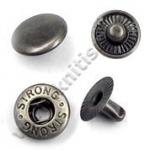 Кнопка стальная L-12 антик