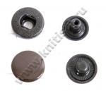 Кнопка стальная L-15 коричневая