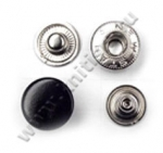 Кнопка стальная L-15 черная