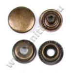 Кнопка стальная №61 антик
