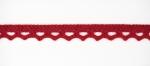 Тесьма кружевная, 10мм, цвет красный