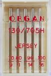 Иглы Organ джерси № 70,80,90(2),100, 5 шт.