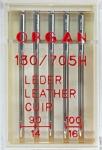 Иглы Organ для кожи № 90(3),100(2), 5 шт.